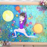 【制作実績】似顔絵アート「太陽と月」