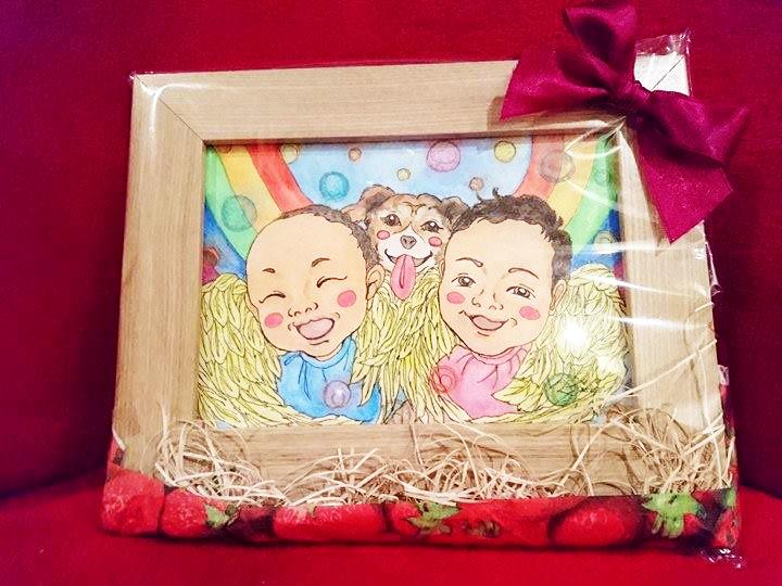 【制作実績】似顔絵アート「6ヶ月の誕生日」