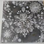 【制作実績】結晶の花アート「黒と白」