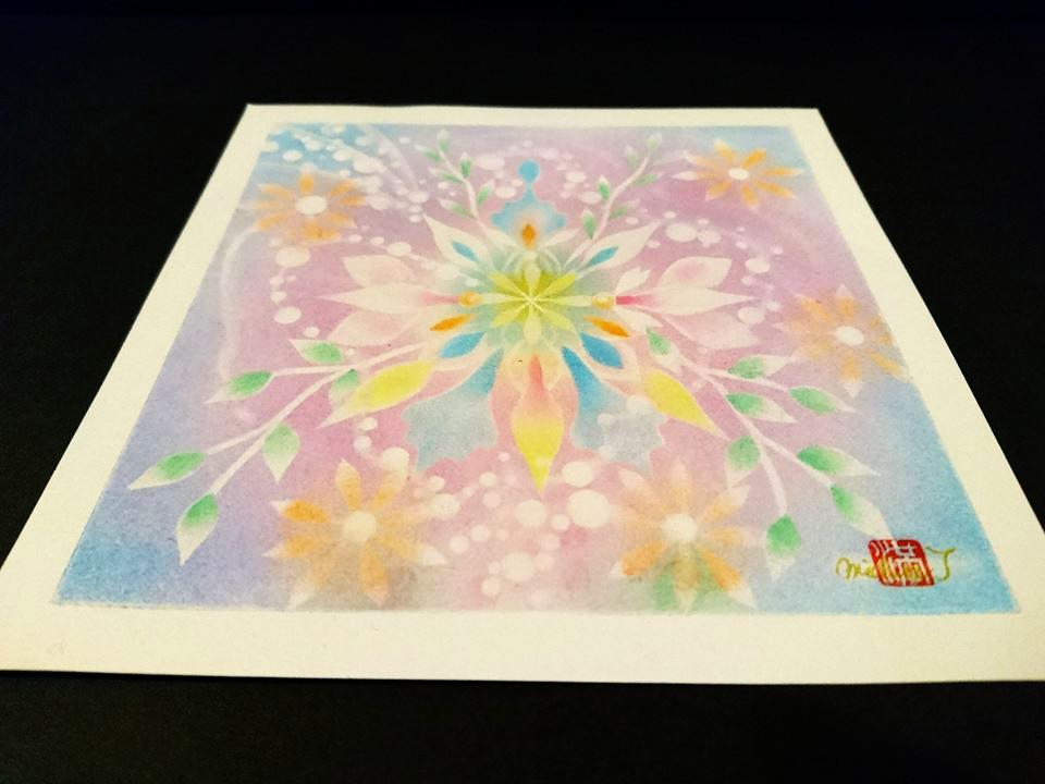 【制作実績】結晶の花アート「新たな自分」1