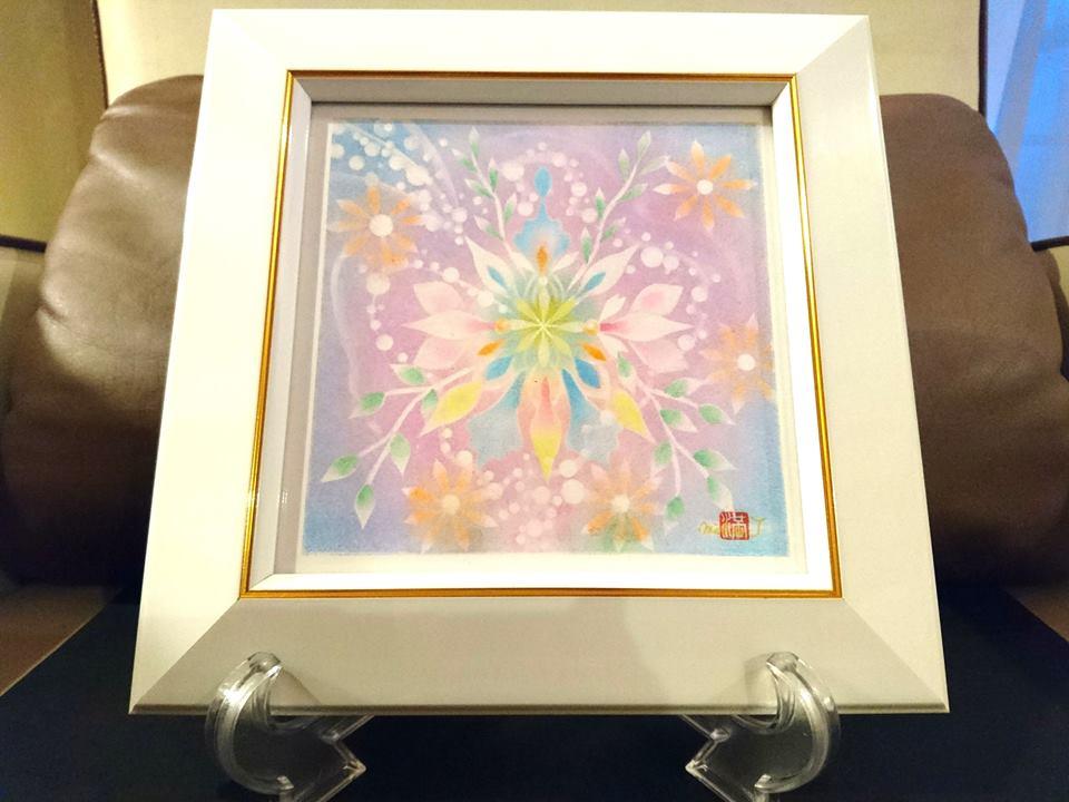 【制作実績】結晶の花アート「新たな自分」