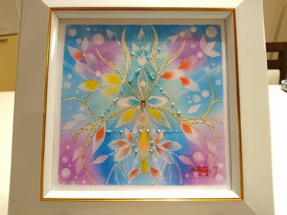 【制作実績】結晶の花アート「あなただから叶う」