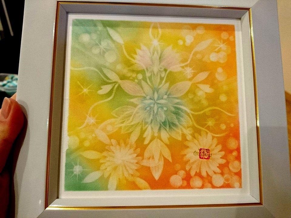 【制作実績】結晶の花アート「あたたかい存在」1