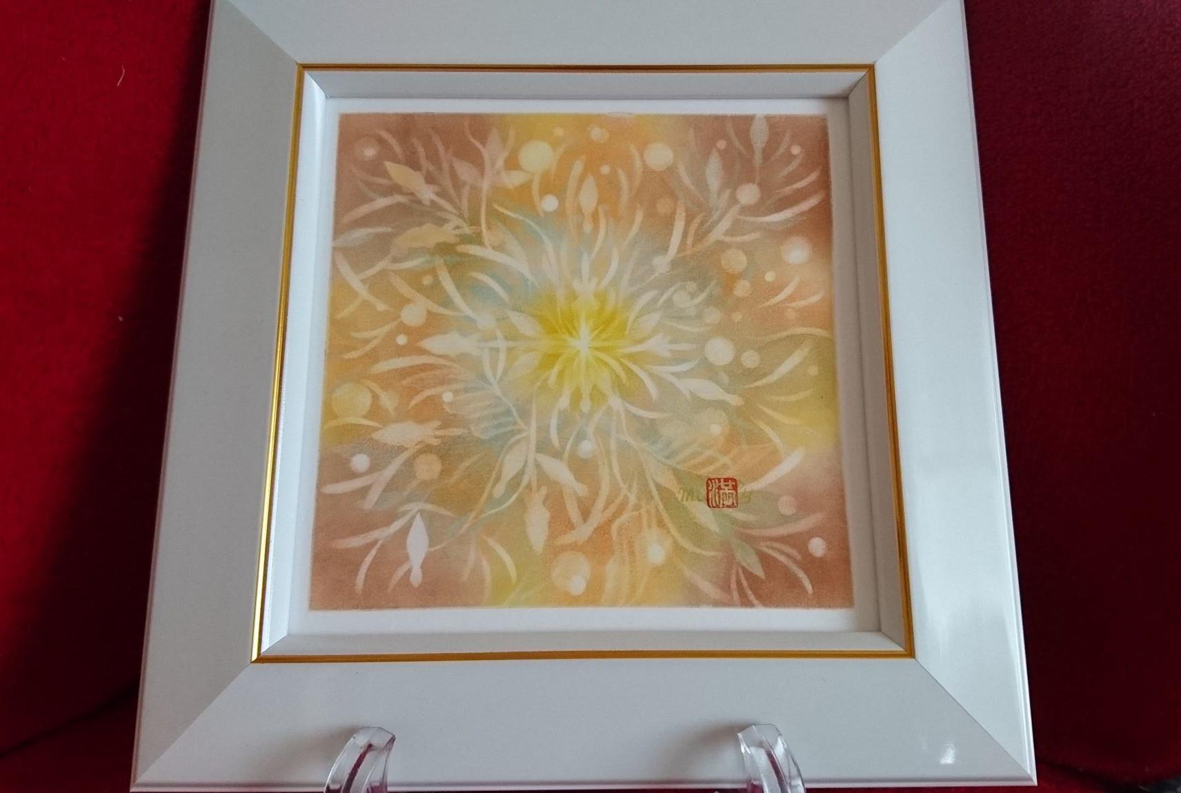 【制作実績】結晶の花アート「反応を楽しむ」1