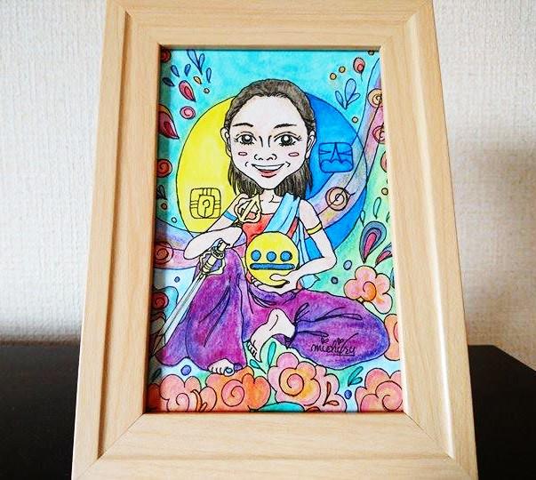 【制作実績】マヤ暦似顔絵アート「kin203」