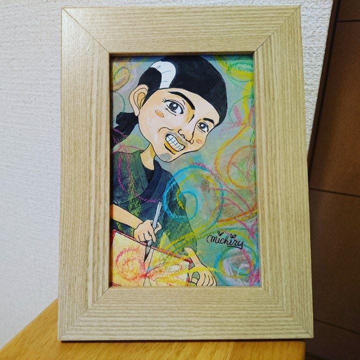 【制作実績】似顔絵アート「ありがとう!」
