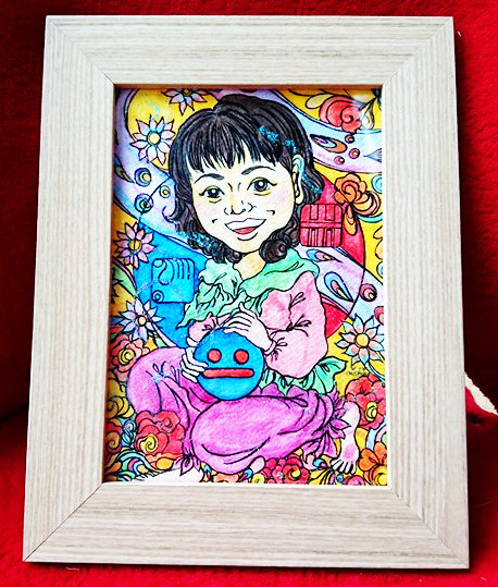 【制作実績】マヤ暦似顔絵アート「kin33」