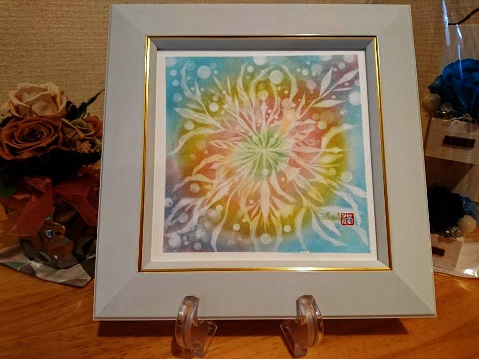 【制作実績】結晶の花アート「中心から溢れる」