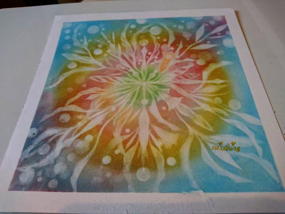 【制作実績】結晶の花アート「中心から溢れる」2