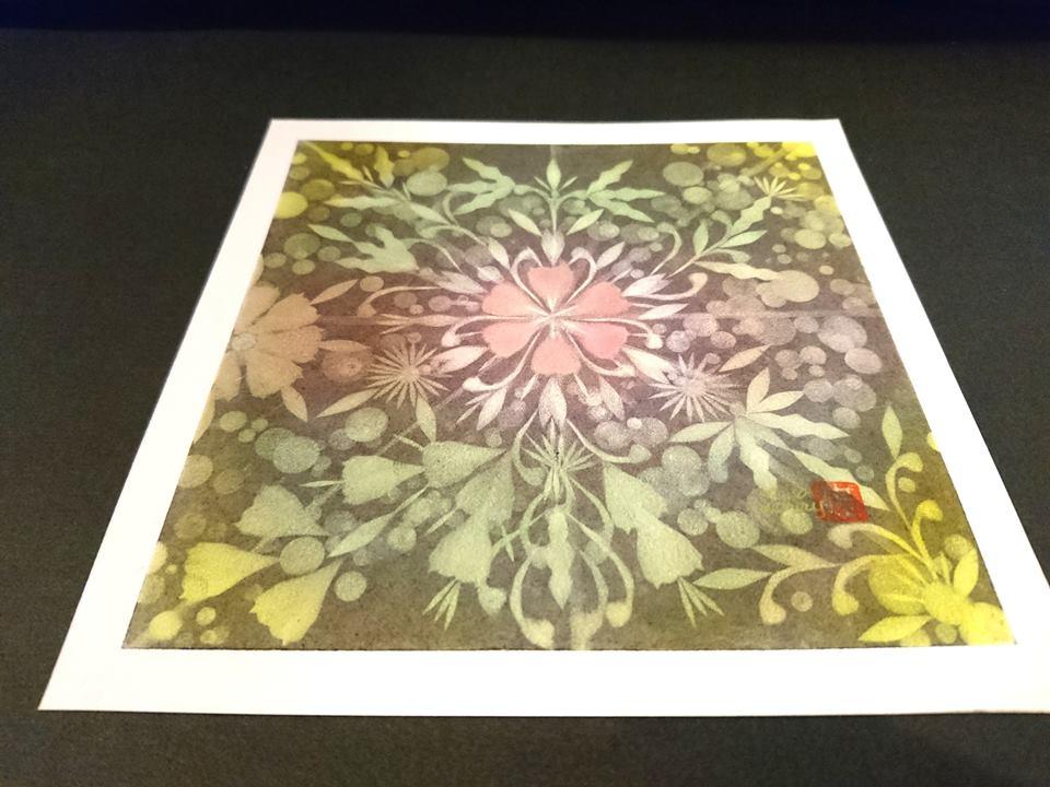 【制作実績】結晶の花アート「深い愛で見守る」1