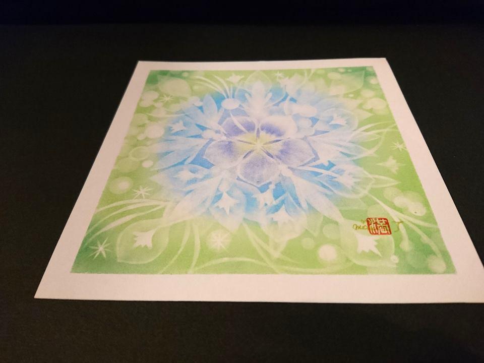 【制作実績】結晶の花アート「着実に進む」1