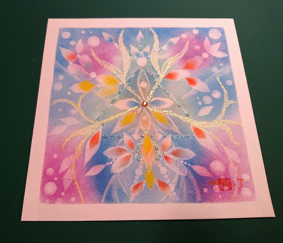 【制作実績】結晶の花アート「あなただから叶う」1