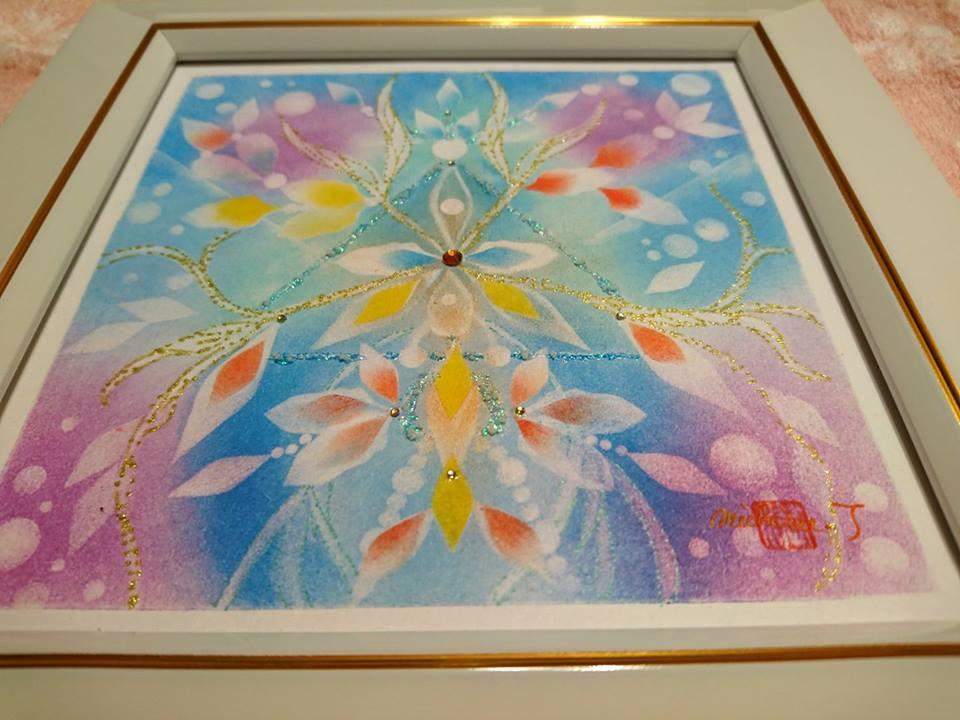 【制作実績】結晶の花アート「あなただから叶う」3