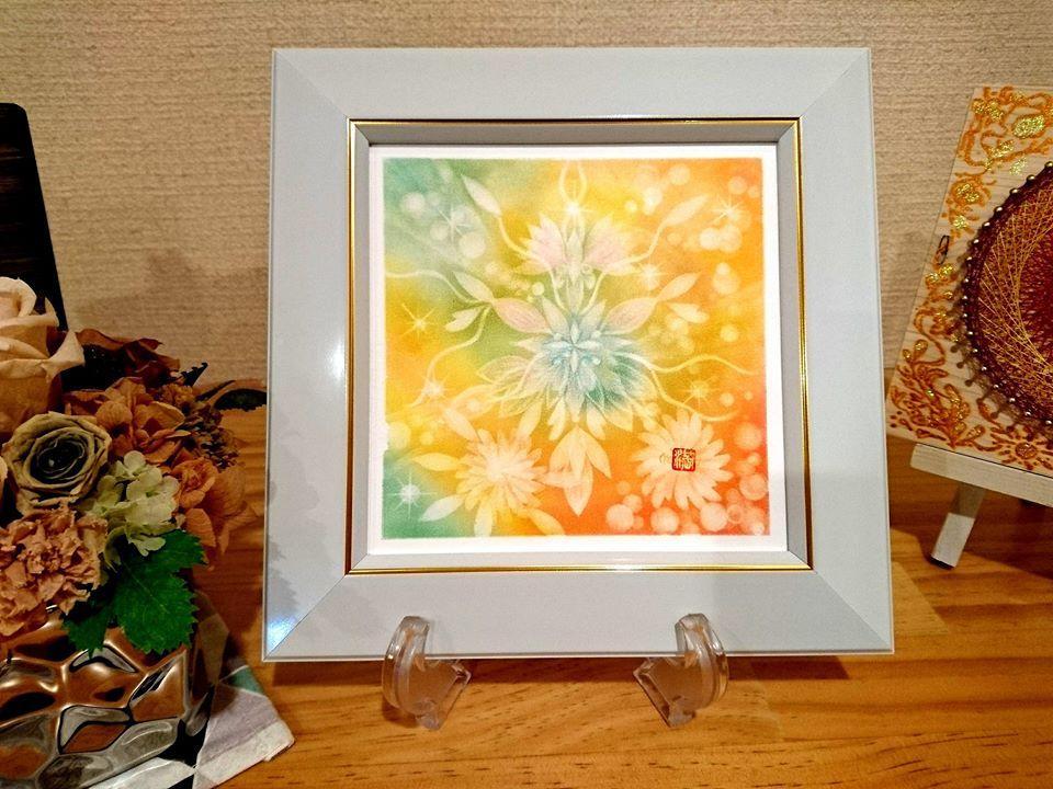 【制作実績】結晶の花アート「あたたかい存在」2