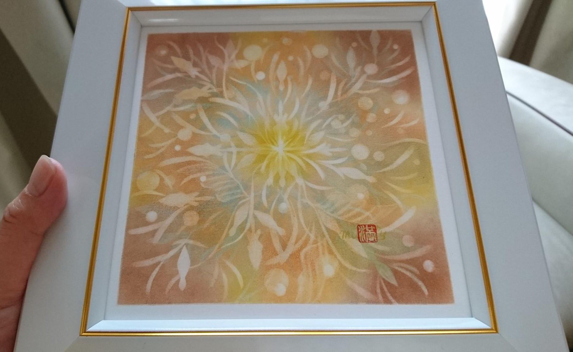 【制作実績】結晶の花アート「反応を楽しむ」2