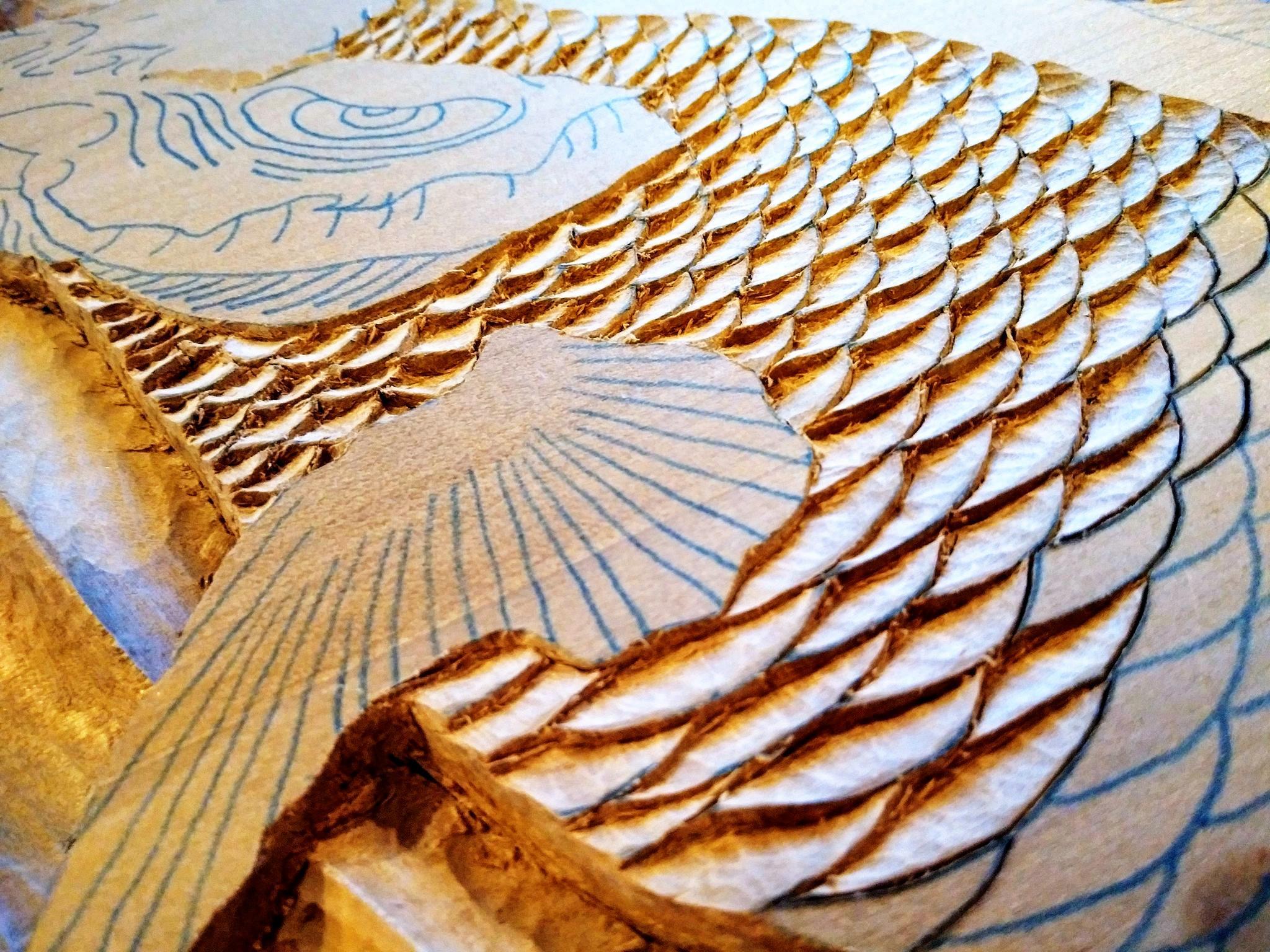 【制作途中】木彫り時間5
