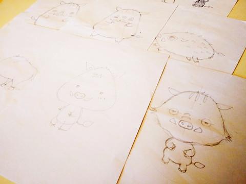 【制作途中】イノシシのイラスト2