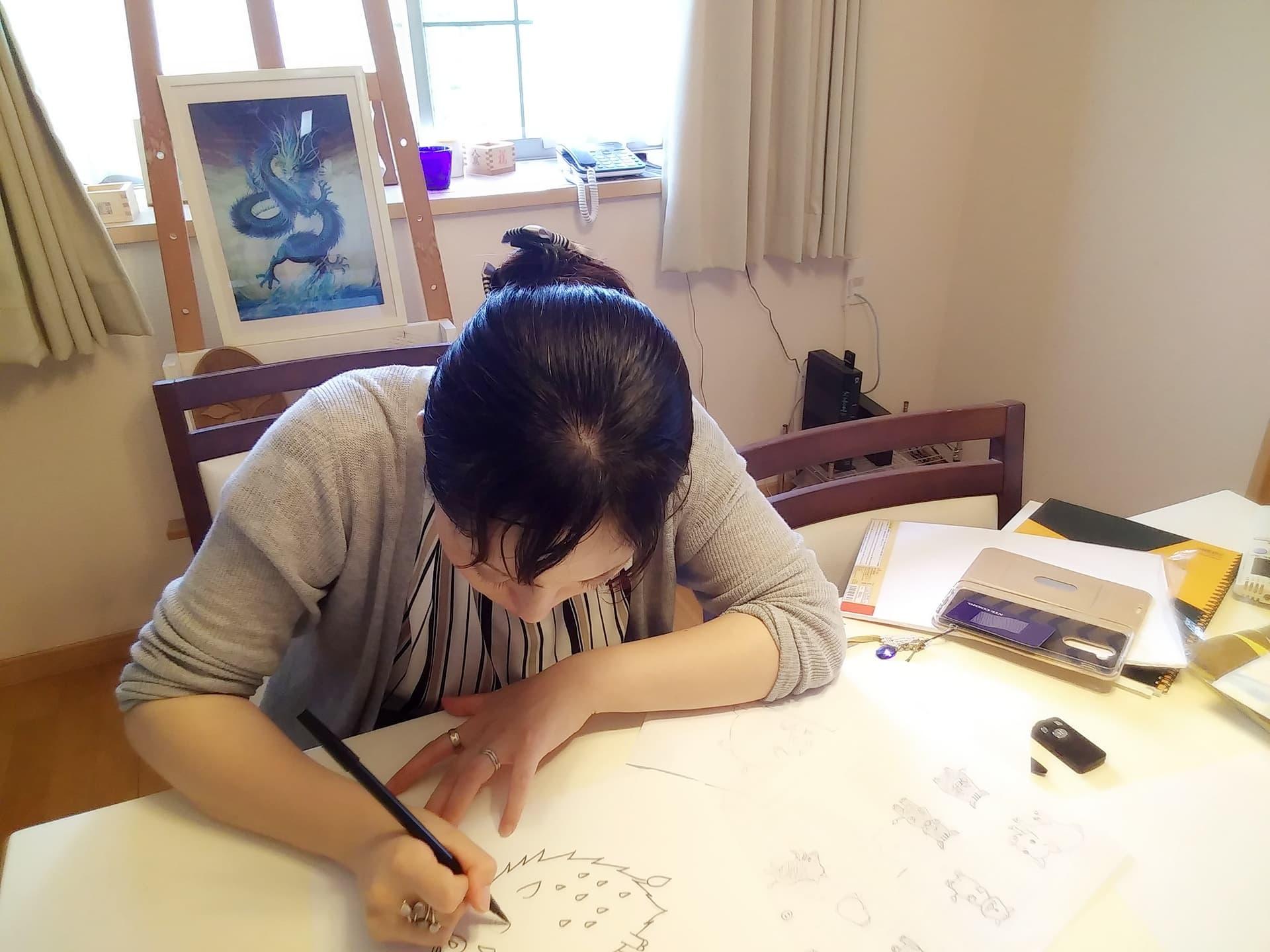 【制作途中】イノシシのイラスト3