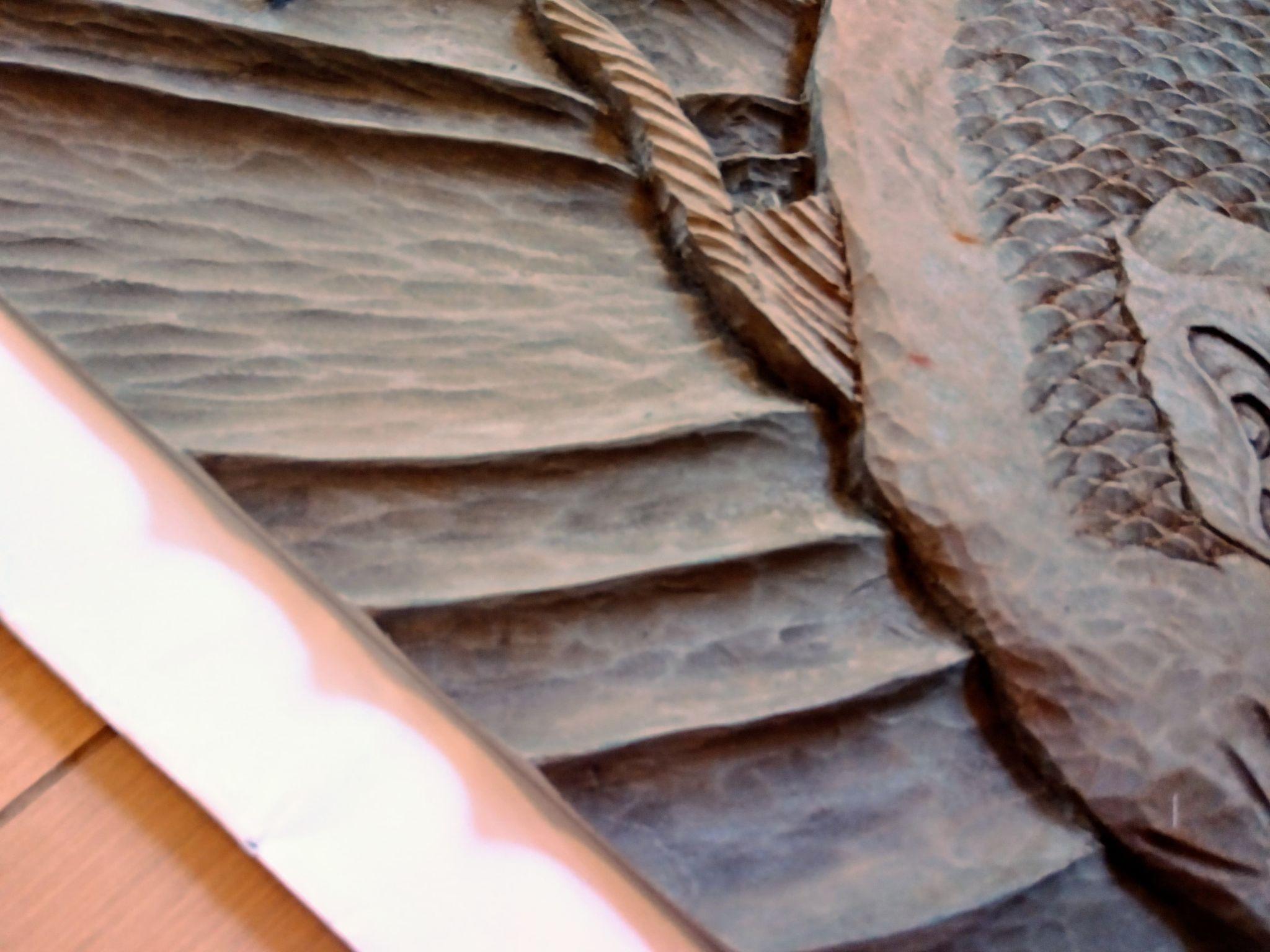 【制作実績】木彫作品『鯉から龍』完成4