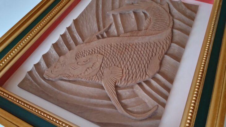 【制作実績】木彫作品『鯉から龍』完成