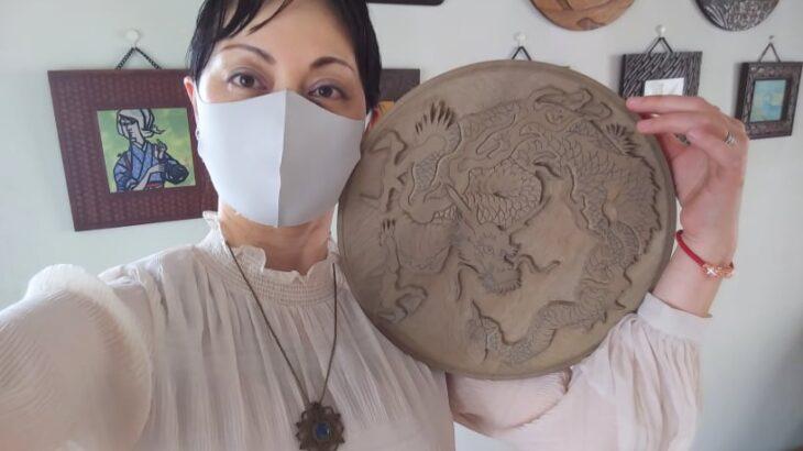 木彫作品:龍①