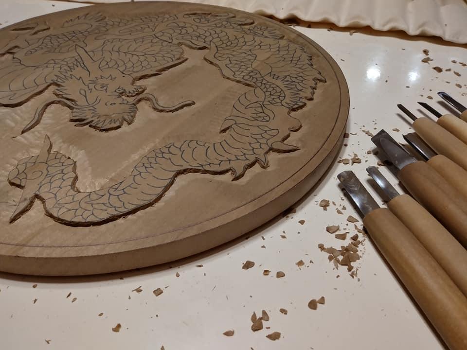 木彫作品:龍①3