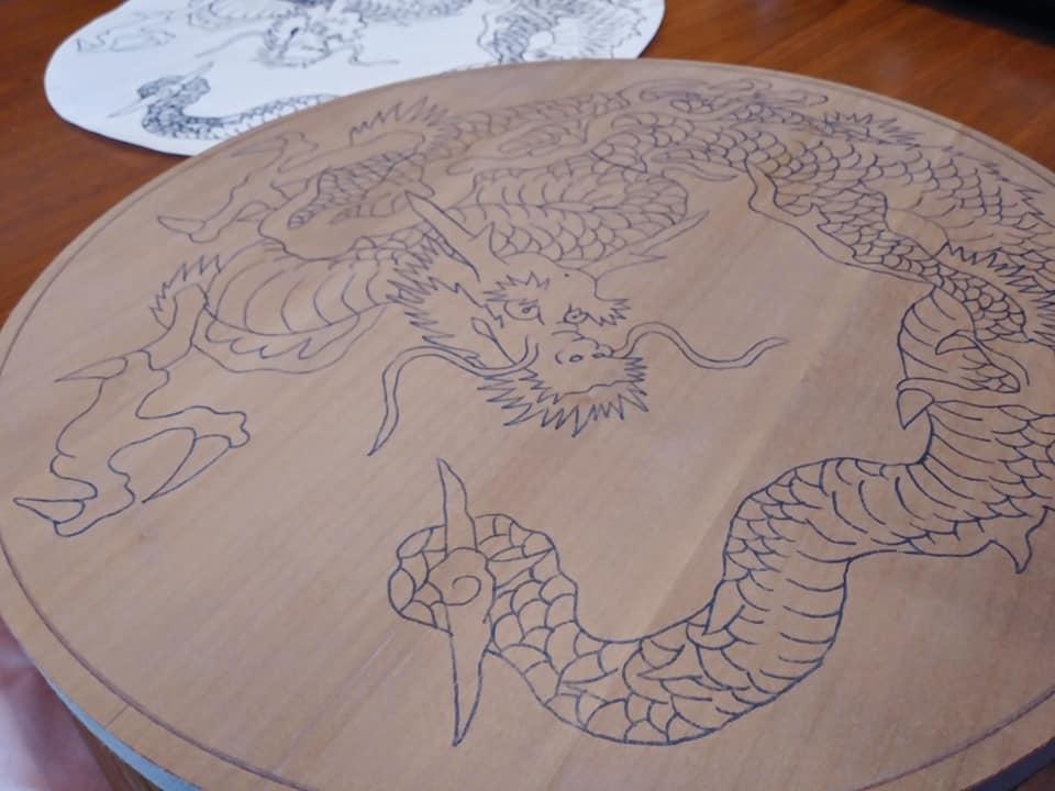木彫作品:龍①2