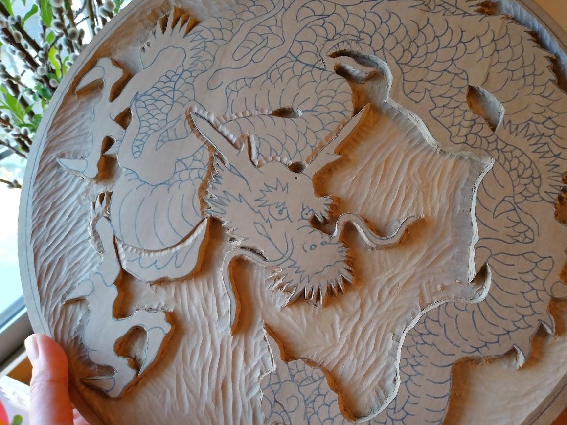 木彫作品:龍①6