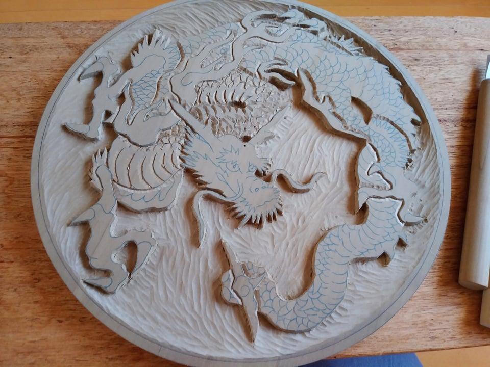 木彫作品:龍①14