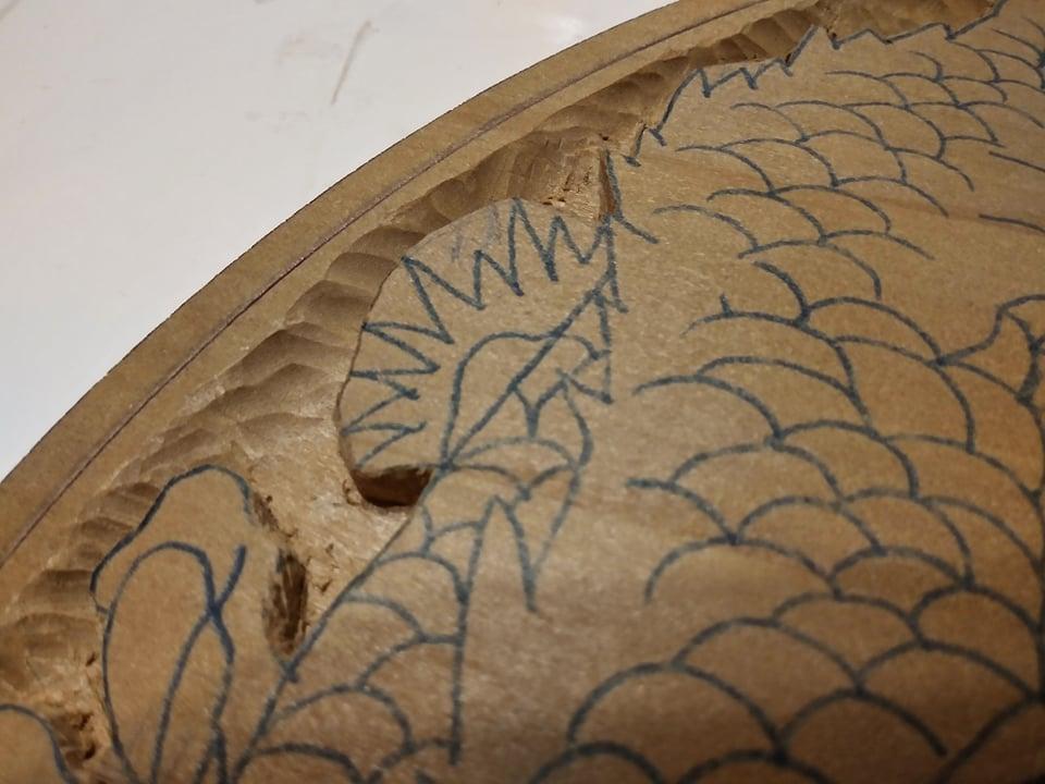 木彫作品:龍①8