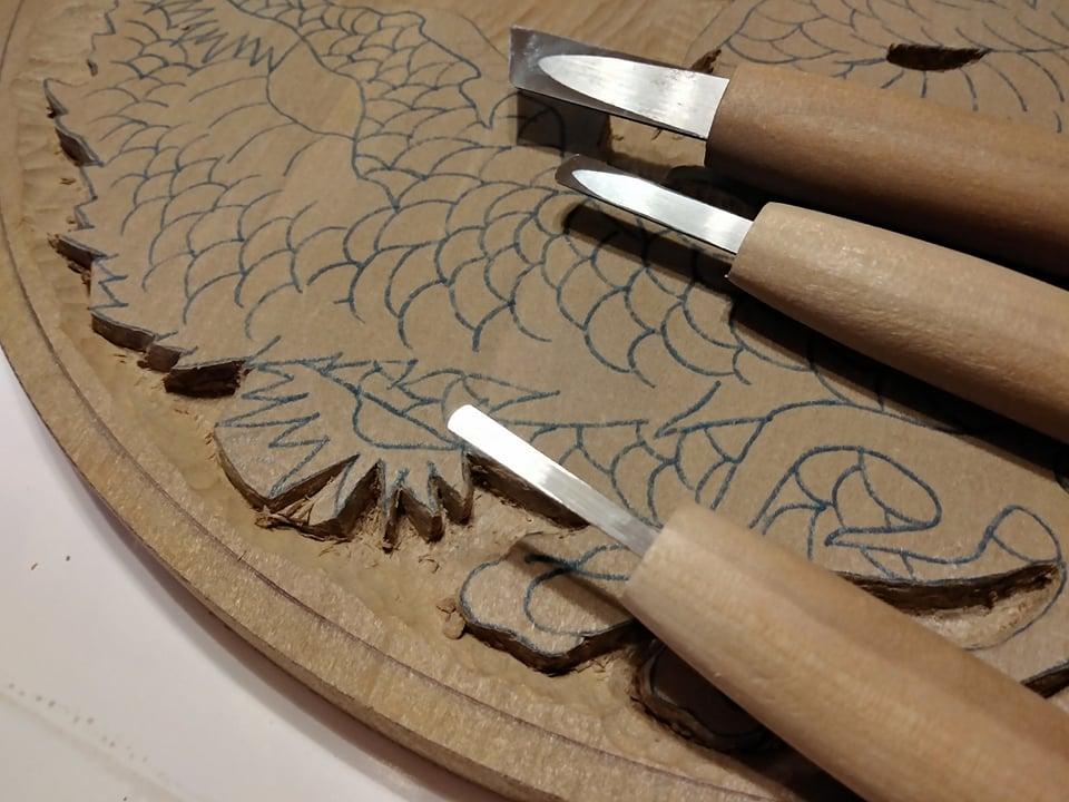 木彫作品:龍①9