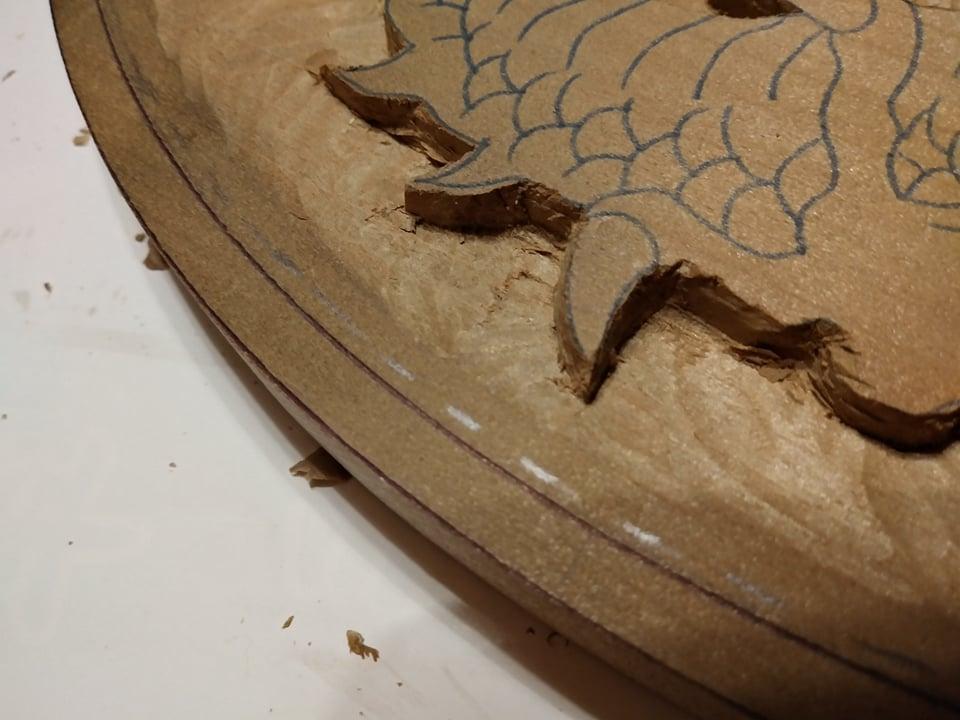木彫作品:龍①11