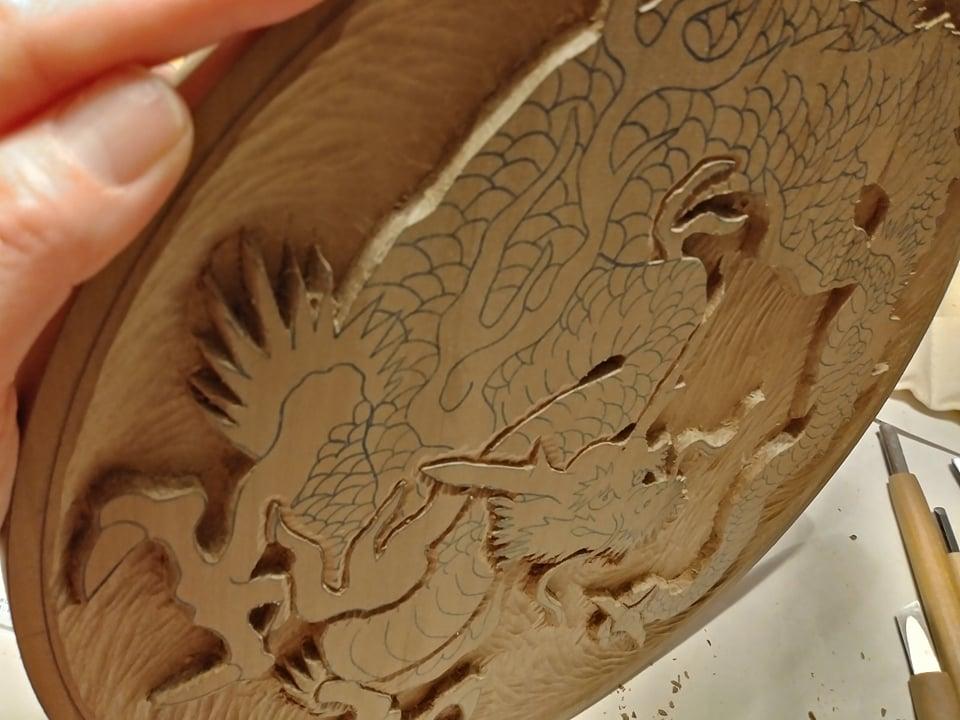 木彫作品:龍①12