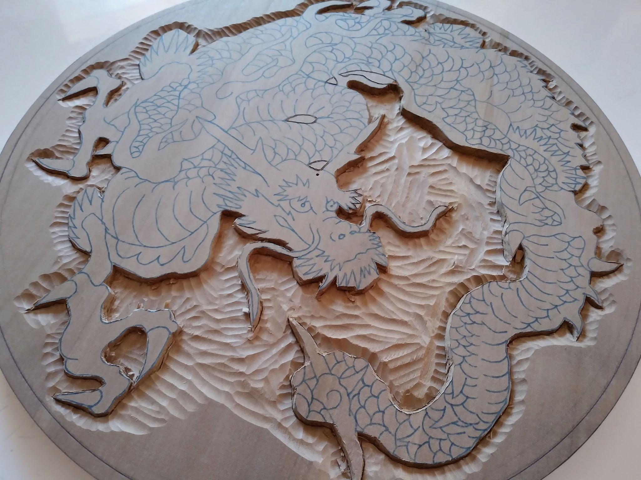 木彫作品:龍①4